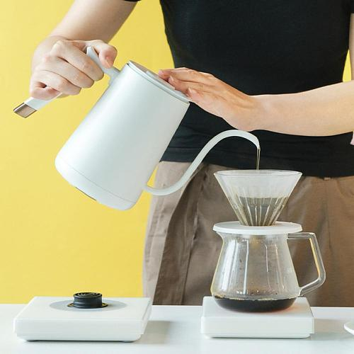 600/800ml Stainless Steel electric kettle With insulation coffee pot constant temperature control Gooseneck long nozzle teapots