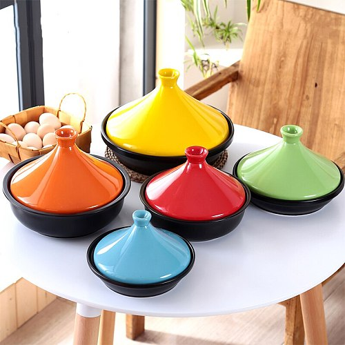 Colorful Taji Pot Ceramics Casserole Japanese Heat-resistant Steamed Vegetable Stew Casserole Rice Pot