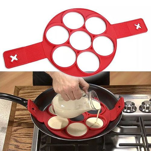 Egg Ring Maker Pancake Maker Nonstick Cooking Tool  Egg Silicone Mold Pancake Cheese Egg Cooker Pan Kitchen Baking Accessory