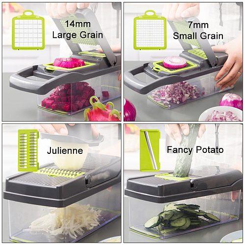 Vegetable Fruits Tool Kitchen Gadgets Grater Cutter Shredder Garlic Meat Chopper Carrot Potato Slicer Salad Maker