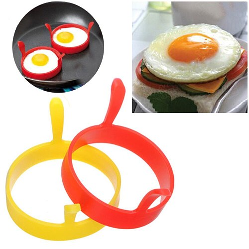 Silicone Round Egg Rings Pancake Mold Ring W Handles Nonstick Fried Frying For Baking Silicone Baking Maker Crepe pancake mold