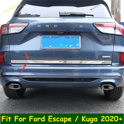 Molding Tailgate Door Handle Strip Accent Garnish Styling Chrome Rear Trunk Tail Gate Cover For Ford Escape / Kuga 2020 2021