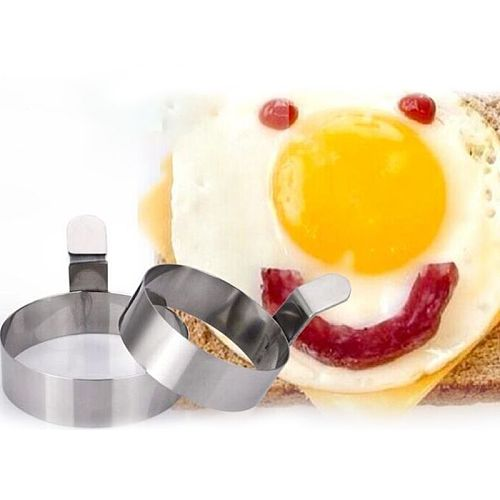 2 Sizes Fried Eggs Ring Pancake Mould Stainless Steel Cooking Rings Non Stick Eggs Mold Omelette Moulds Kitchen Accessory