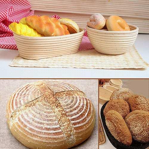 Multi-Sizes Oval Dough Banneton Brotform Dougn Rattan Bread Proofing Proving Baskets Fermentation Wicker Basket Kitchen Supplies