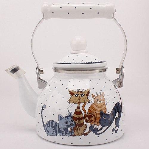 Porcelain Enamels Teapot Kettle Coffee Milk Teapot Medicine Pot Induction Cooking Gas Universal Household