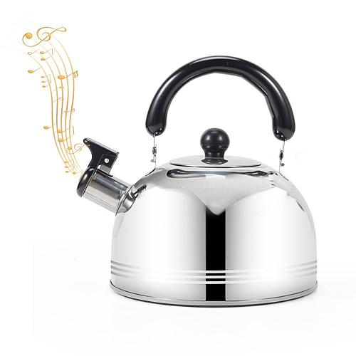 2020 New 2/3/4L Whistling Kettle For Gas Stove Chaleira Bouilloire Stainless Steel Whistle Tea Kettle Water Bottle 40a