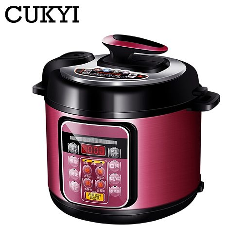 CUKYI 5L Electric Multicooker Multi-functional Programmable Pressure Reservation Rice cooker steamer slow cooking pot 220V EU