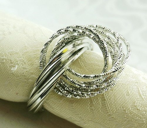 metal decoration napkin ring, napkin holder for wedding