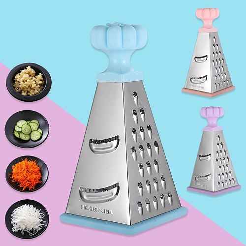 8-inch stainless steel tower-shaped four-sided melon planer household multifunctional vegetable cutter, potato cheese grater