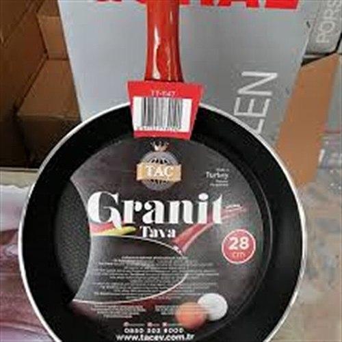 Taç Turkish Marble Stone Nonstick Frying Pan with Heat Resistant Bakelite Handle,Granite Induction Egg Skillet,Dishwasher Safe