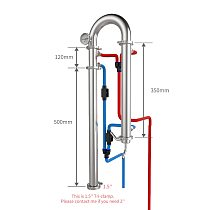 1.5'' Tubular distillation column Home alcohol brewing equipment machine with copper net Tri-clamp Silicone ring