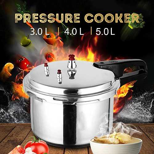 Aluminum Alloy Pressure Cooker Cookware Kitchen 3/4/5L Large Capacity Gas Stove Fast Cooking Foods Camping Supplies Equipment