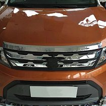 For Suzuki Vitara 2016-2018 ABS Chrome Front Grill Bumper Cover Trim Insert Bonnet Garnish car Accessories Protective decoration