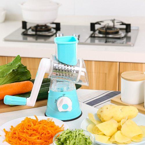 Magic Multi-function Hand Crank Chopper Rotating Grater Vegetable Fruit Cutter Slicer Kitchen Gadgets Drop Shipping