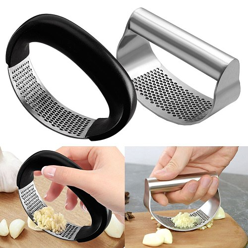 Stainless Garlic Press Manual Garlic Press Device Kitchen Household Press Squeezer Ginger Garlic Tools Kitchen Accessories