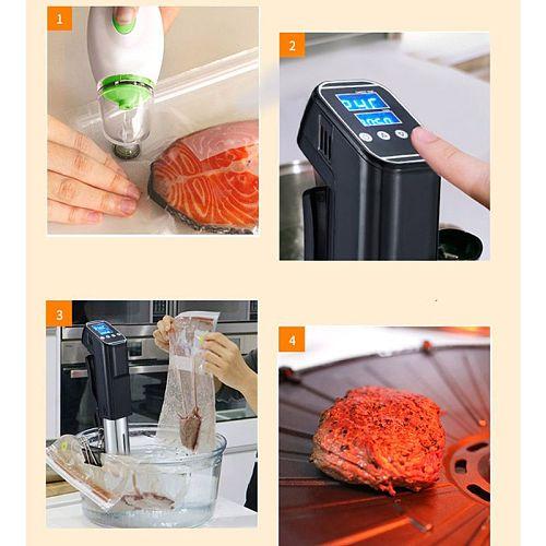 Sous Vide Cooker 1000W Precise Temperature Timer Thermal Immersion Circulator Vacuum Food Cooker WIFI LCD Digital Display