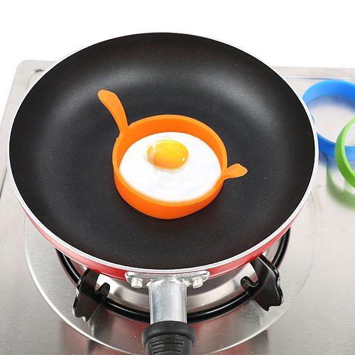 2PCS  Breakfast Omelette Fried Egg Molds  Flip Cooker Egg Ring Mold For Cooking Breakfast Frying Pan Oven Kitchen Egg Tools