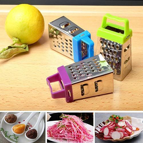 Stainless Steel Mini Multi-function Shredder Grater Vertical Plane Grinding Slicer Gadget Household Kitchen Accessories 4 Sides