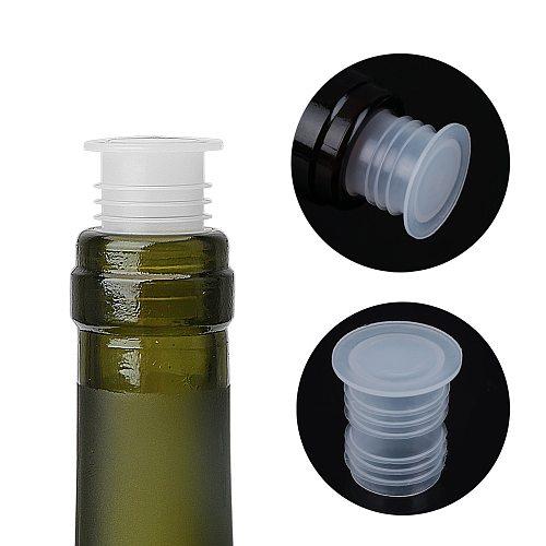10Pcs Plastic Brew Wine Bottle Caps Stoppers Beer Bottle Plug Stopper Kitchen Bar Glass Saver Sealer Tool