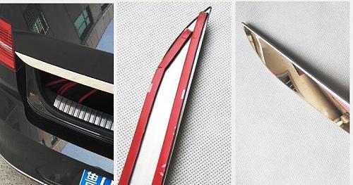 Fit For VW PASSAT B8 2017 2018 2019 Rear Trunk Boot Tailgate Door Tail Gate Cover Trim Molding Lid Bezel Garnish Strip Styling