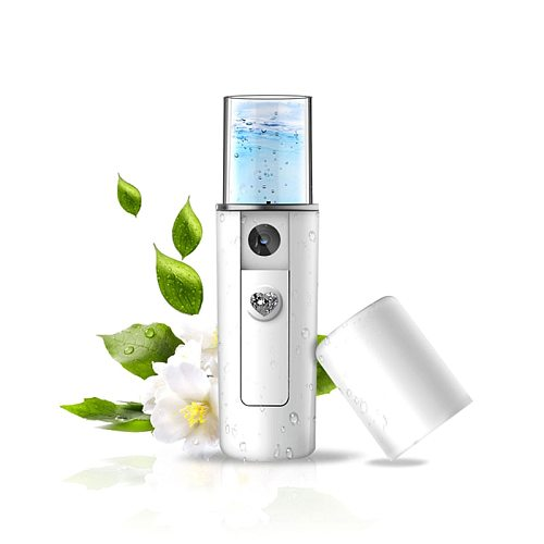 USB Rechargeable Nano Spray Water Supply Instrument 20ml Portable Facial Steamer Hydrating Skin Nebulizer Face Care Tools