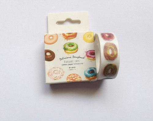 1.5cm*7m kawaii Doughnut Washi Tape DIY decoration Scrapbooking Sticker Label Masking Tape School Office Supply