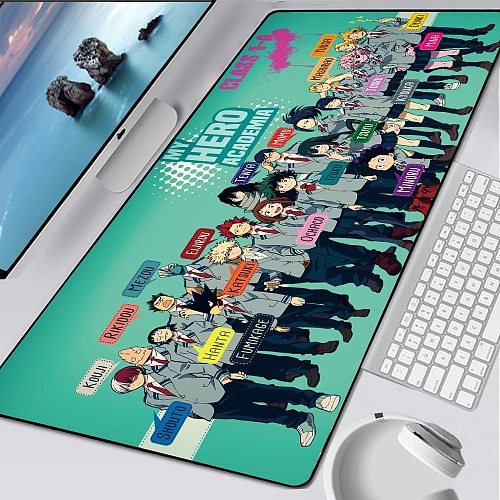 My Hero Academia Large XL Mousepad Anime Gamer Gaming Mouse Pad Computer Accessories Big Keyboard Laptop Padmouse Speed Desk Mat