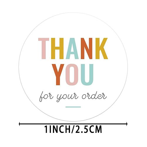 THANK YOU for your order stickers for envelope seal labels sticker shop Business Package Decoration Sticker stationery supply