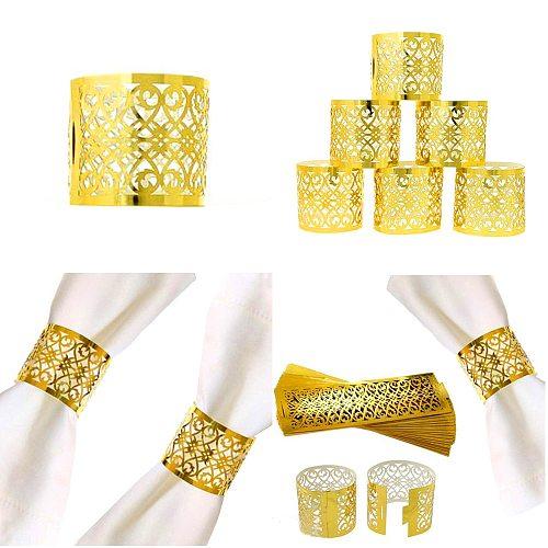 50pcs/lot Napkin Rings For Wedding Table Decoration Skirt Princess Prince Rhinestone Gold Napkin Rings Holder Party Supplies Hot