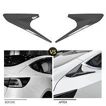 Car Accessories Carbon Fiber C Pillar Rear Window Quarter Cover Trim Garnish for Tesla Model 3 2017-2021