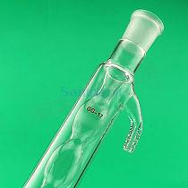200mm 19/26 Joint Allihn Glass Condensers Socket Bulb Distillation Lab Glassware