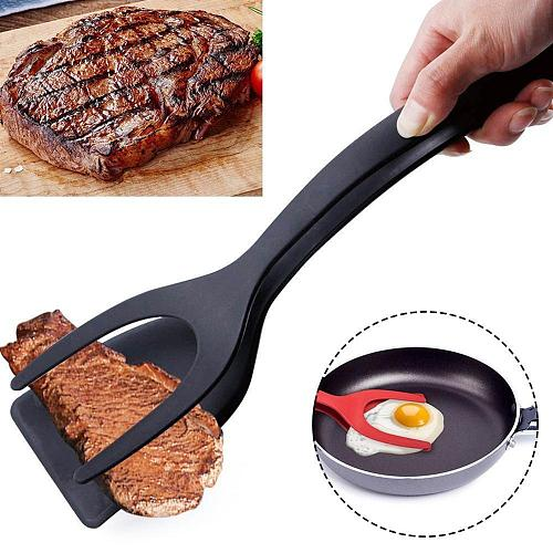 2 In 1 Grip Flip Tongs Egg Tongs French Toast Pancake Egg Clamp Omelet Accessories