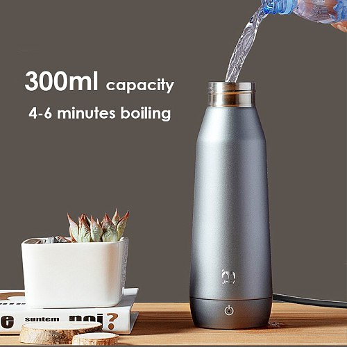 Portable Mini Electric Kettle For Travel 300ml Electric Water Boiler APP Control 304 Stainless Steel Electric Kettle