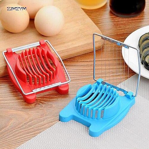 1pc Stainless Steel Boiled Egg Slicer Section Cutter Multi-functional Mushroom Tomato Chopper Kitchen Tool
