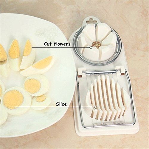 1pc Cooking Tools 2in1 Cut Multifunction Kitchen Egg Slicer Sectione Cutter Mold Flower Edges Gadgets Tools Ferramentas