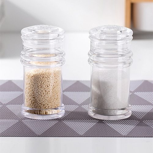 Kitchen Plastic Spice Salt Pepper Shakers Seasoning Jar Can Barbecue Condiment Jar Bottles Cruet Container