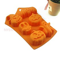 50pcs Explosion models hot silicone cake mold Halloween pumpkin chocolate mold round DIY tools