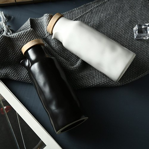400ML Ceramic Oil Bottle Kitchen Vinegar Oil Olive Porcelain Dispenser Bottle Seasoning Oil Pot Gravy Boat Tool Accessories Tool