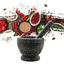 Resin Mortar Pestle Tool Set 11 Cm Large Mortar Kitchen Herbs Spices Food Shredi
