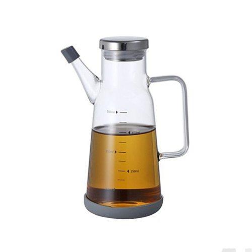 Olive Oil Dispenser Measurements Vinegar Bottles Cooking Oil Can Glass Bottle Leak-Proof BBQ Kitchen Supplies