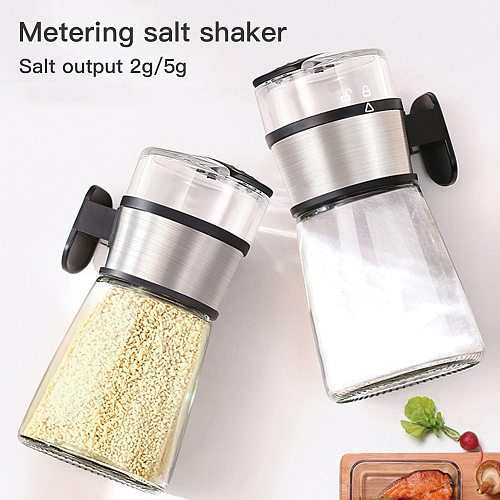 Push-Type Salt Control Bottle Accurate Salt Dispenser Salt Spice Shaker Transparent Practical Pepper Spice Jar Or Container