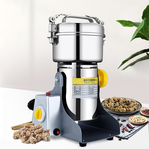 800g Grinding Machine Grain Spice Hebals Coffee Mill Dry Food Mill  Mill Home Medicine Flour Powder Crusher