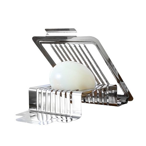 Kitchen Gadget Stainless Steel Egg Cutter Multifunction Fruit Slicer Mushroom Tomato Cutter Kitchen Skiving Machine Cooking Tool