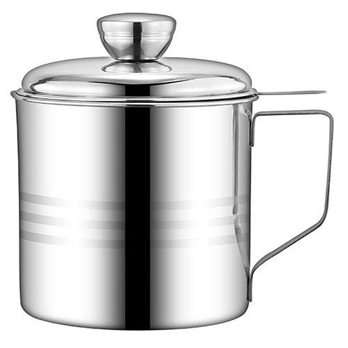 Oil Strainer Pot Stainless Steel Container Jug Storage Can with Filter Leakproof Cooking Oil Pot Dispenser Kitchen Tools