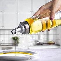 Kitchen Olive Oil Cruet Dispenser Bottle For Soy Sauce Vinegar Glass Bottles With Scale Oiler Seasoning Container Cooking Oil Sp