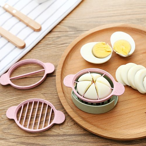 Egg Slicer Cutter Egg Cooking Tool Multifunctional Wheat Straw Mold Cutter Artifact Gadgets Kitchen Utensils