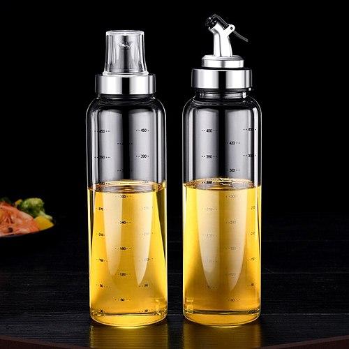 Leak Proof Oil Pot Borosilicate Glass Seasoning Bottle for Household Soy Sauce Vinegar Oil YU-Home
