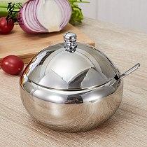 Stainless steel mirror seasoning Jar kitchen seasoning bottle salt pepper boxes household condiment kitchen utensils Spice boxes