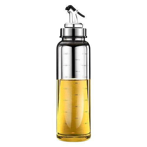 Leak Proof Oil Pot Borosilicate Glass Seasoning Bottle for Household Soy Sauce Vinegar Oil JS22
