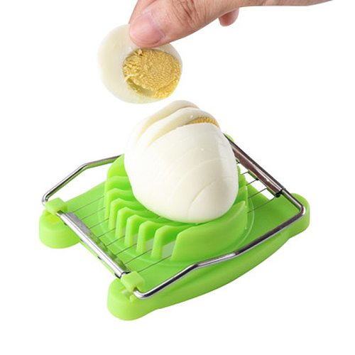 3 colors Stainless Steel Cut Egg Slicer Sectioner Cutter Mold high quality Multifunction Eggs Splitter Cutter Kitchen Tools 1PC